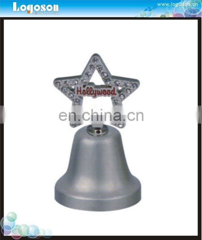 Home decoration fashion metal souvenir table dinner bell/nickel silver dinner bell