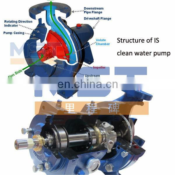 cast iron water pump with 220v 380v 3 phase electric motor