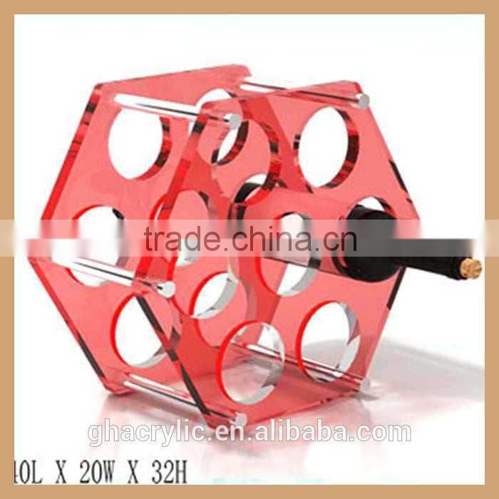 GH-W07b hexagon sharp antique wine rack, guitar wine rack