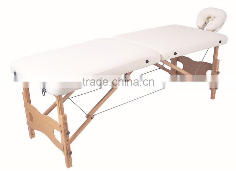 wooden cheap salon facial bed; beauty bed massage with high quality