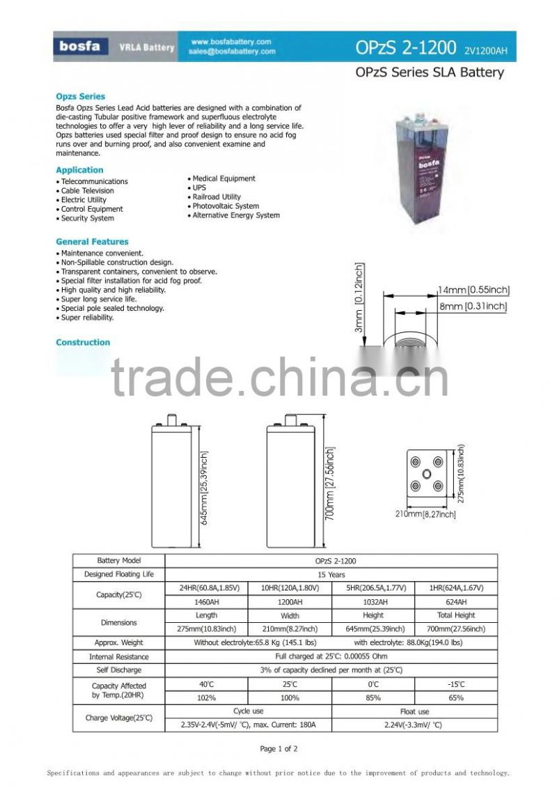 base battery price list for vrla battery 2v power plus battery 1200ah