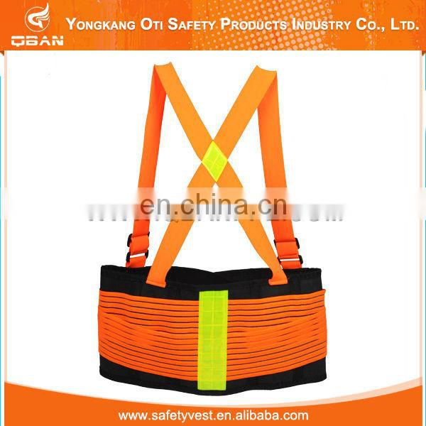 Black heavy duty Safety tool belt back support belts With Suspenders