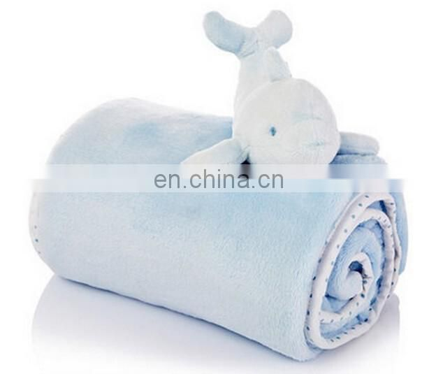 2017 fannel new design plush dolphin toy baby security blanket