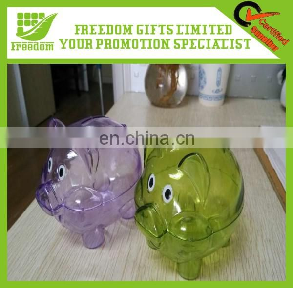 Plastic Promotion Logo Customized Coin Bank
