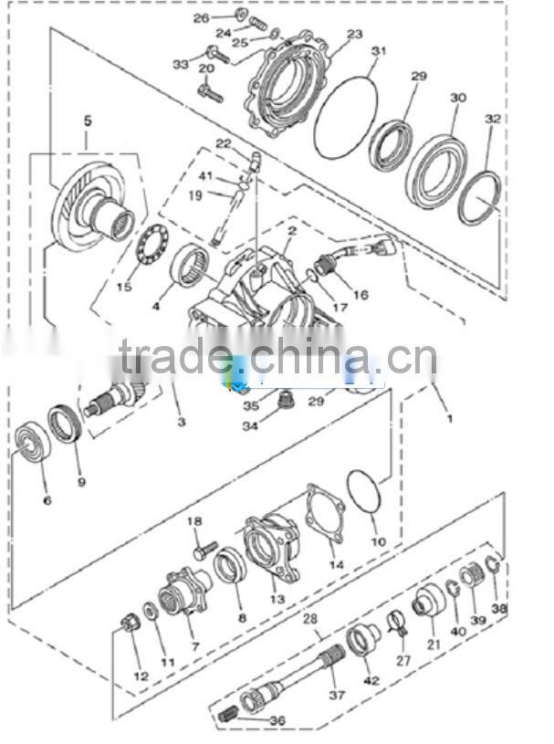 Atv Rear Axle Assemblyused On Hisun Hs500hs600hs700 Atv Of Atv