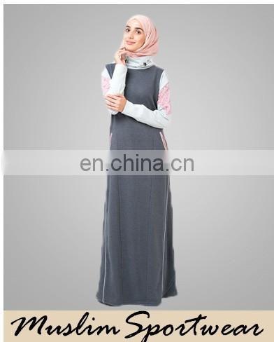 2016 Women Malaysia Baju Kurung And Baju Melayu Printing Blue Jubah
