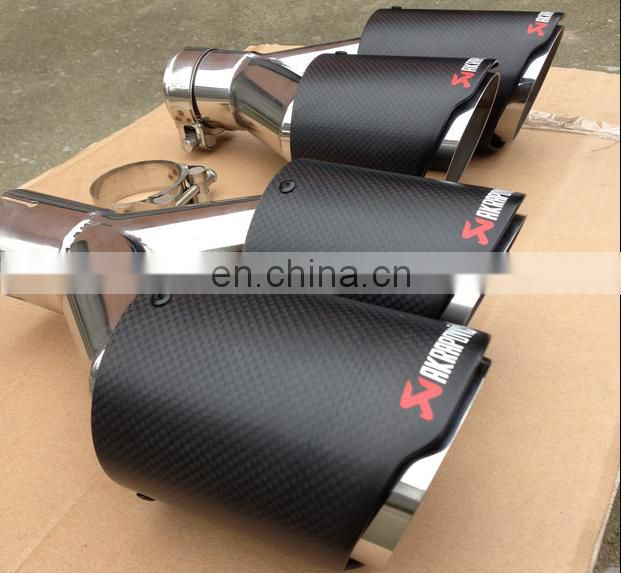 2017 high quality Akrapovic exhaust tips carbon fiber tail pipe