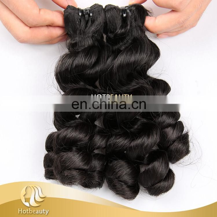 Factory wholesale good quality and low price funmi roman curl remy hair extensions