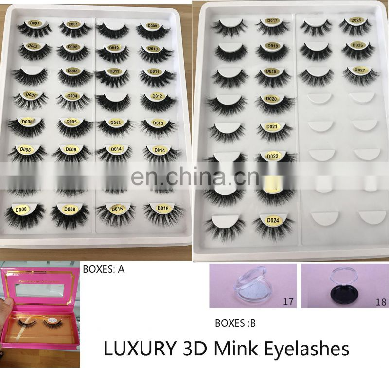 D012 own brand package 100% real minkfur false eyelashes