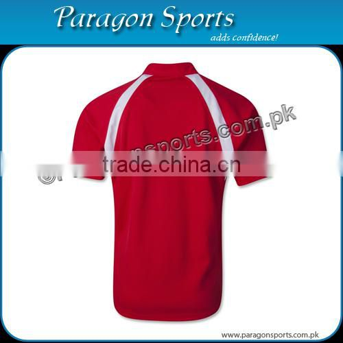Custom Red Rugby Jersey