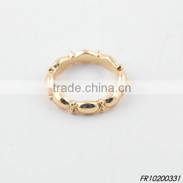 gold elastic adjustable bamboo ring