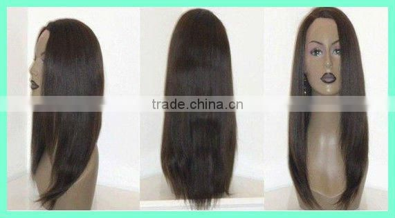 #1B 22 inches Yaki 100% Indian remy human hair lace wigs accept customer order