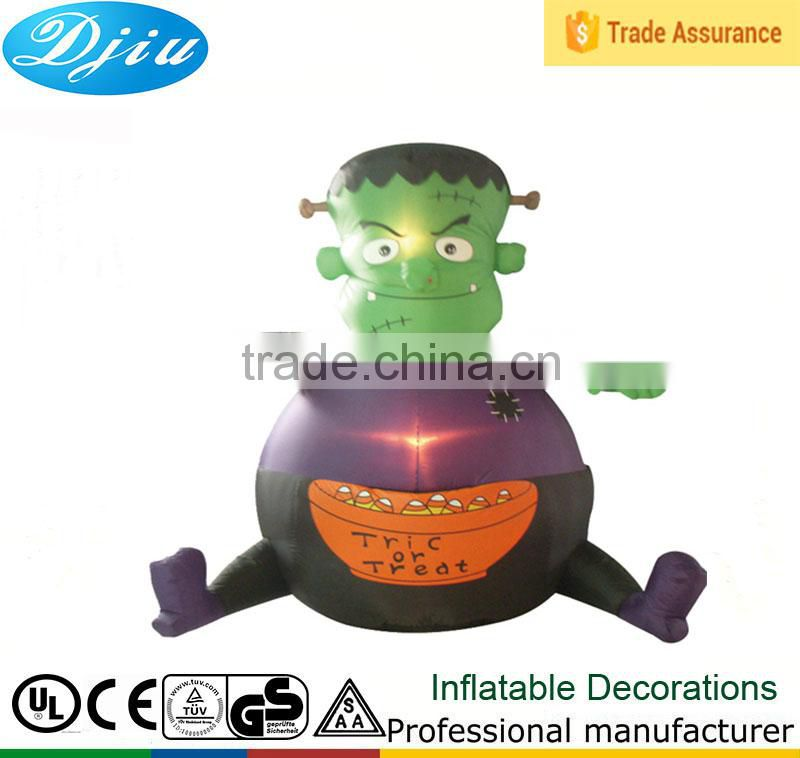 DJ-202 2015 Green inflatable Alien ET sitting decoration led light