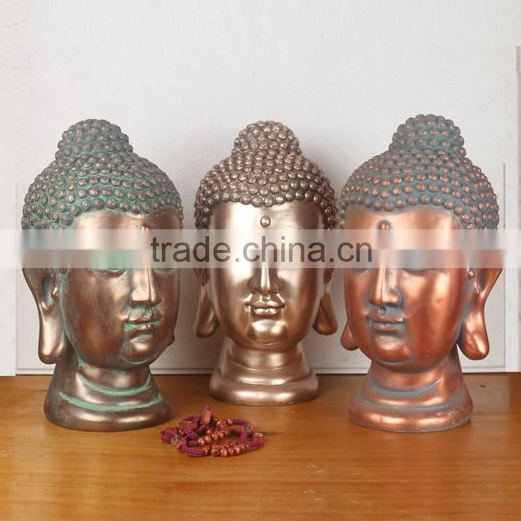 Hand Painting Golden Color Resin Female Buddha Statue For Sale