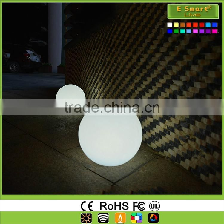 Waterproof pool color changing light ball,dimmable RGB led ball outdoor rechargeable