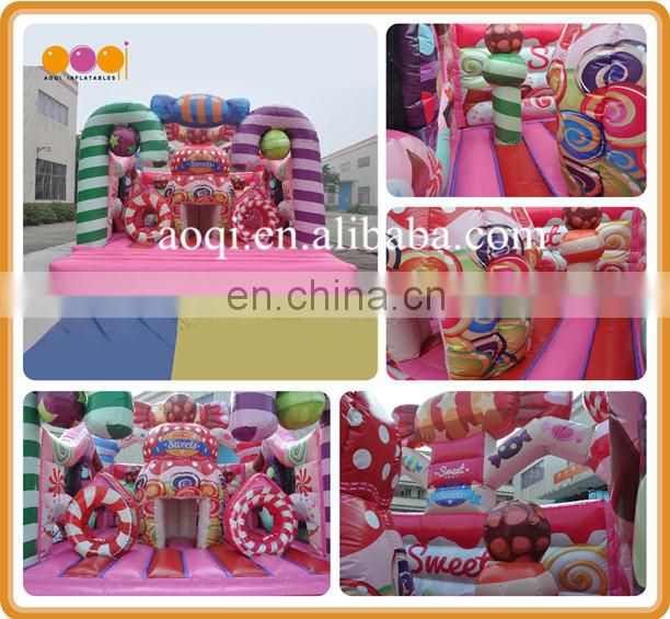 Pink Sweet Candy Inflatable Jumping Bouncer,Bouncer Inflatables for Kids