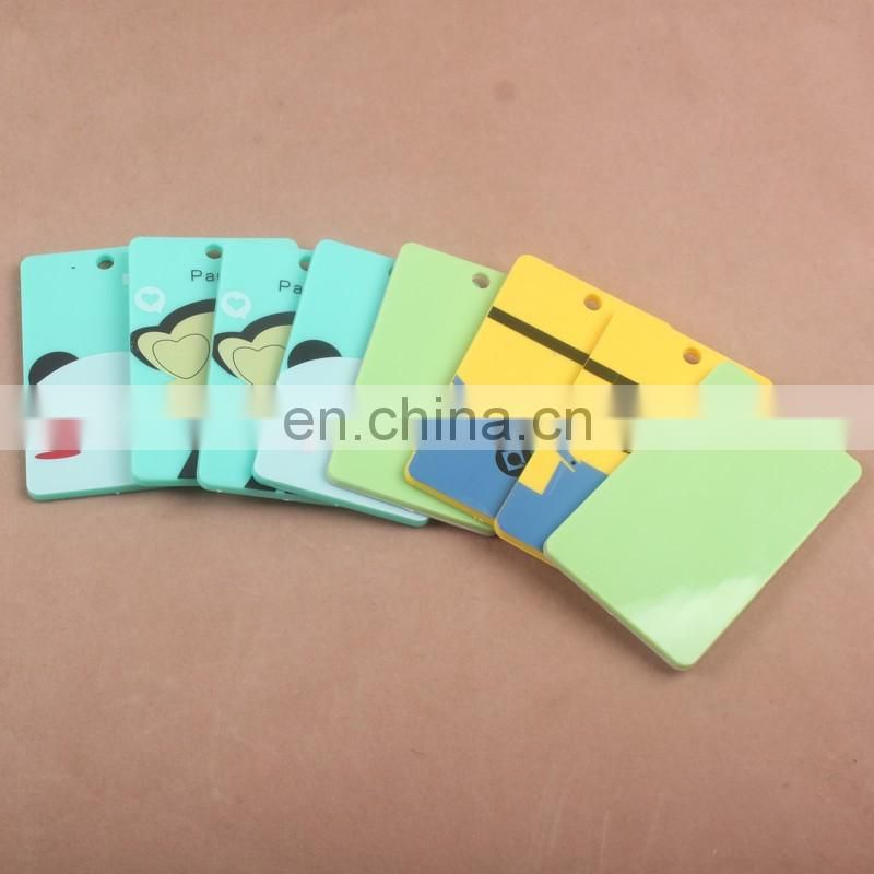 China Factory supply single PP Bank card holder with logo printing, Plastic Credit Card Holder