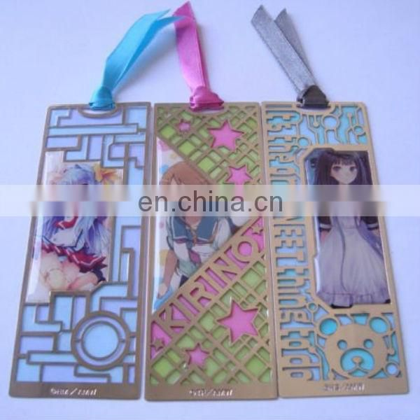 cartoon girl printed bookmark