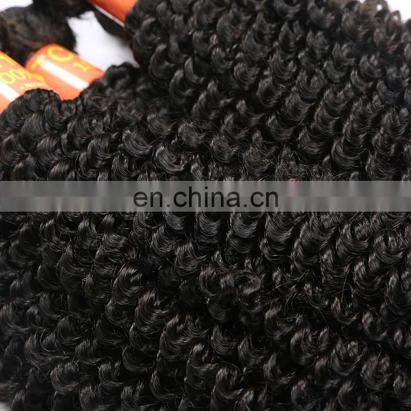 Hight quality products Grade 6A Full Cuticle Hair Weft,Wholesale kinky curly virgin hair, Natural Color Russian Hair Extensions