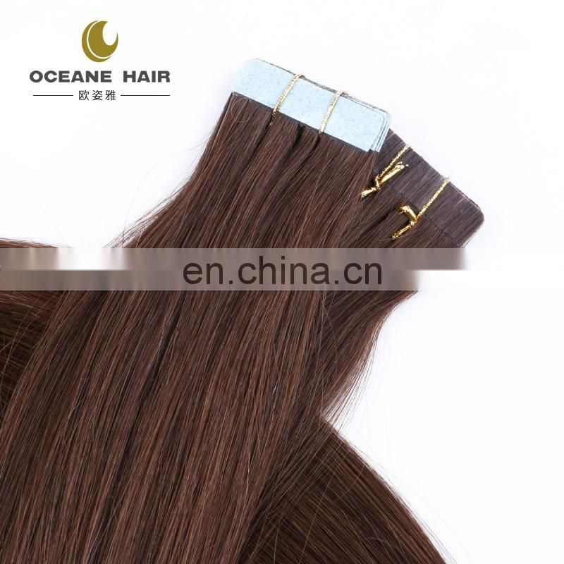 wholesale top grade human remy tape hair extensions double drawn thick ends