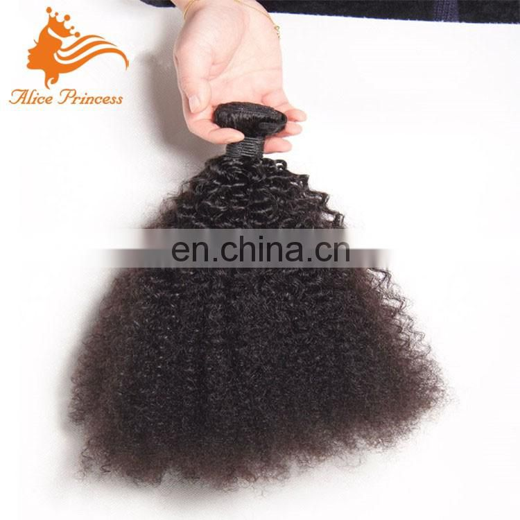Peruvian Afro Kinky Curly Hair Human Hair Weaves Virgin Human Hair Bundles