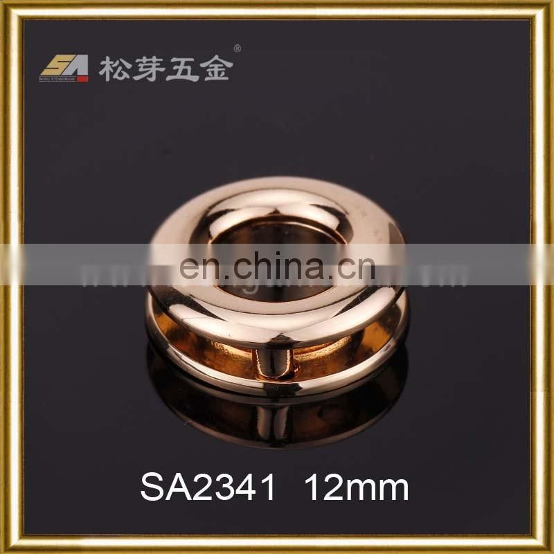 Metal Grommets For Handbags, Nickel Free Eyelets For Leather Goods, Plated Zinc Alloy Eyelet