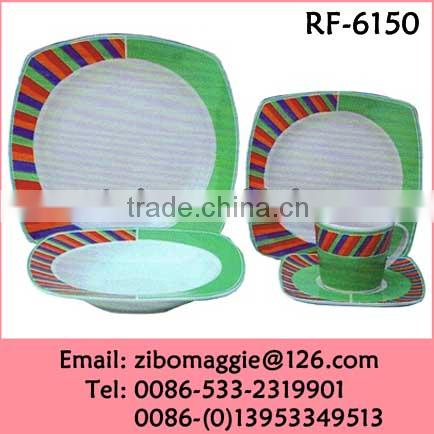 Alibaba Express Personalized Porcelain Sqaure Tableware for Bulk Dinnerware