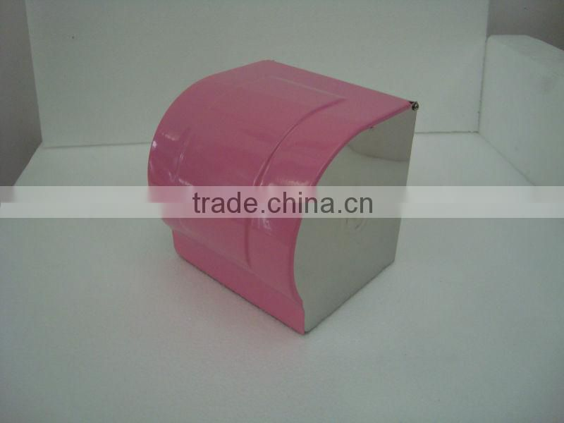 Stainless steel toilet paper holder tissue holder K-8-pink lacquer cover