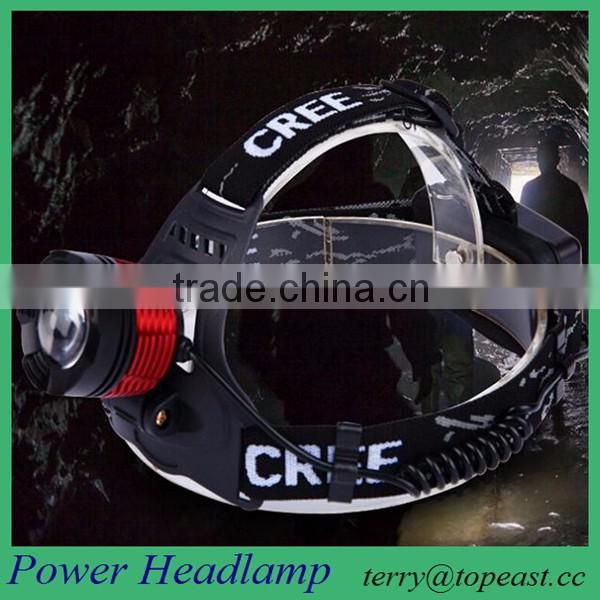 Headlamp Rechargeable LED Flashlight for Mining ,Camping, Hiking, Fishing