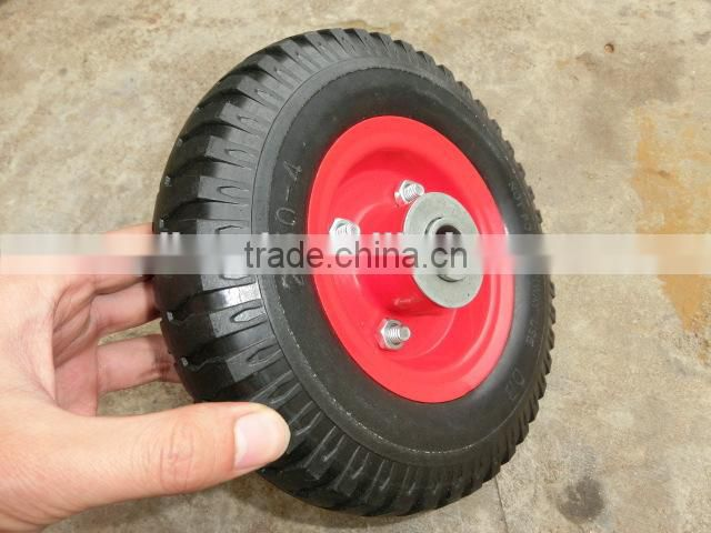 professional manufacturer steel rim plastic rim rubber wheel/ wheel barrow tyre with all size