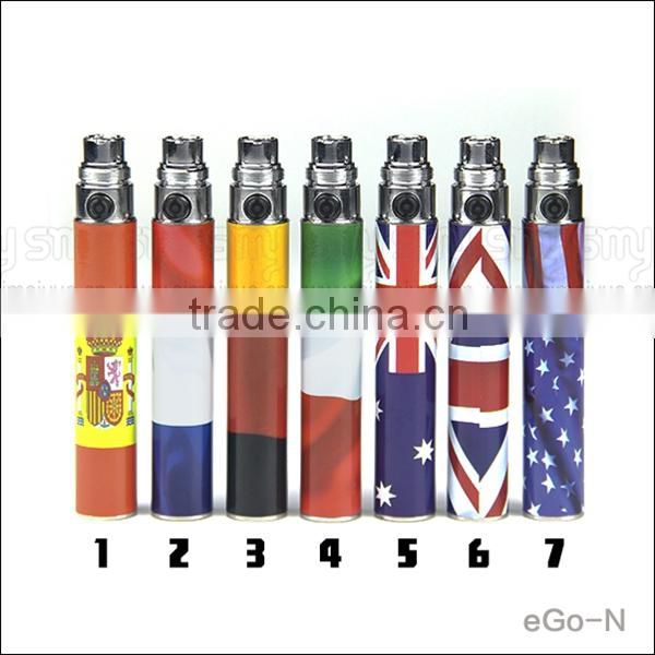 650/900/1100mah flower design e cigarette battery ego-n vapor ego flag