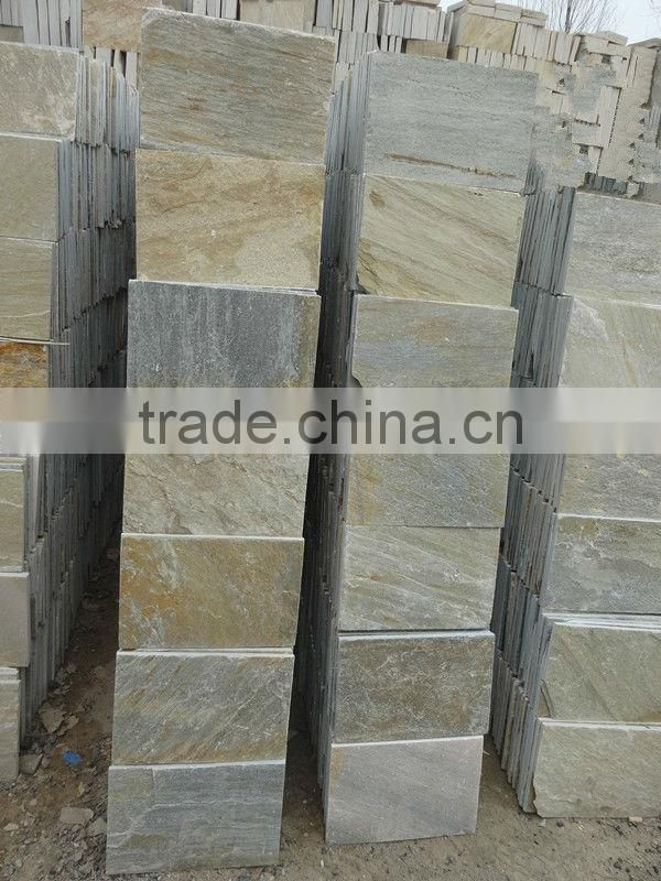 the 300x300 mm golden yellow limestone slate floor tiles ,building stone