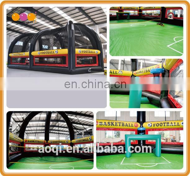 AOQI cheap price inflatable volleyball game for adults