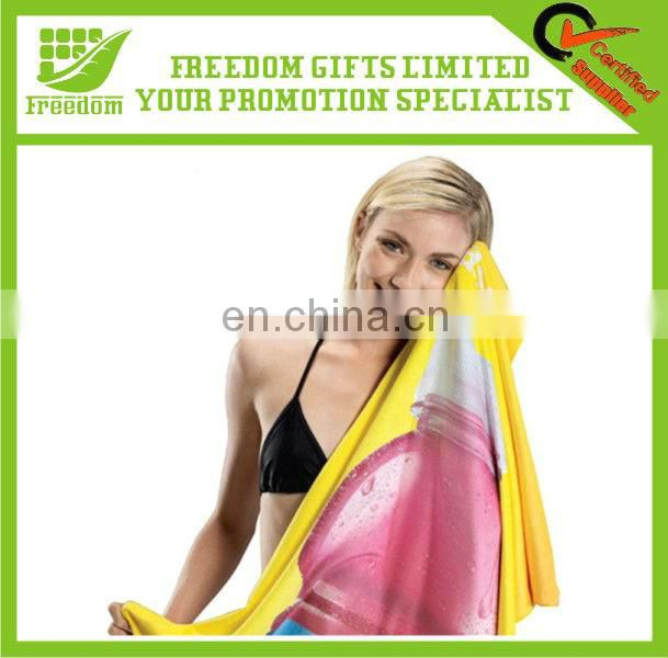 Customized Reactive Printing Promotional Microfiber Gym Towel
