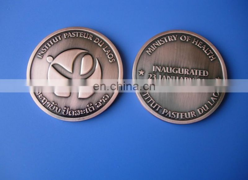 Debossed Mongolia map challenge coin