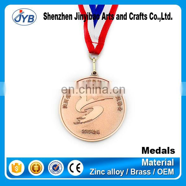 2015 metal antique brass sport medal, custom medals no minimum order, sportsaward medal