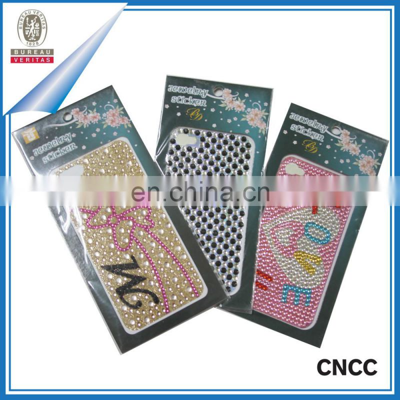Ladies Mobile Phone Covers/ Pearl Crystal Rhinestone Cell Phone Cover