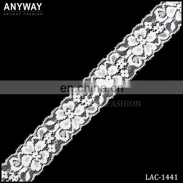 Ivory cotton decorative polyester lace trim in wholesale
