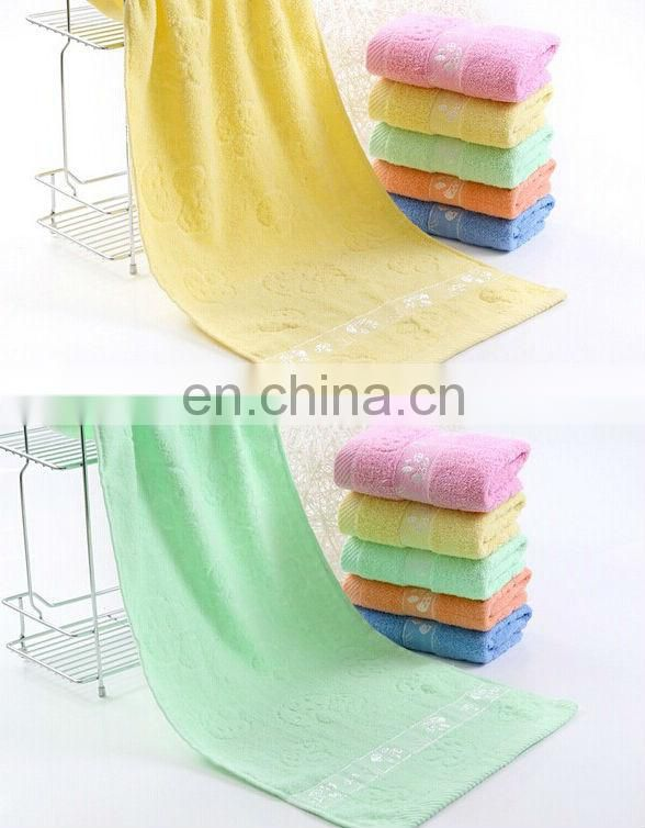 Comfortable cotton bath towel from factory with reasonable price and soft handle suit for baby use