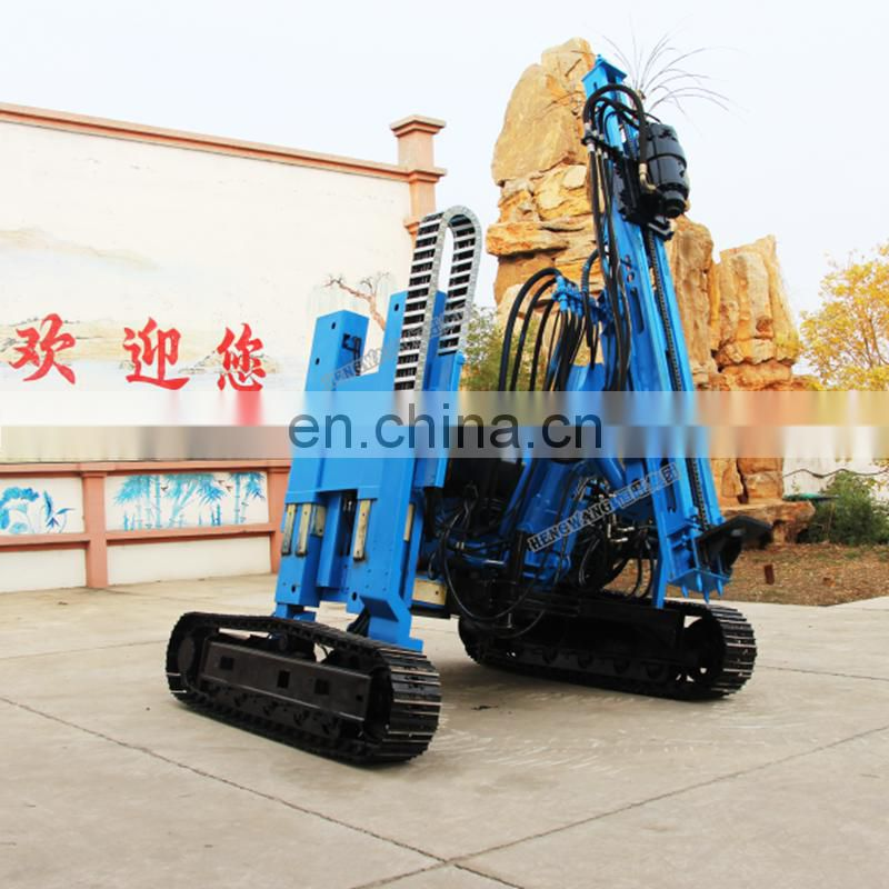 photovoltaic solar ramming pile rig pile driver for solar power station