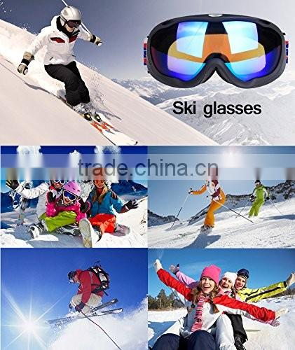 Snowmobile Snowboard Skate Bikeboard Ski Goggles with Wide Vision Anti-fog UV Cut Snow Multicolor Professional Mountain Climbing
