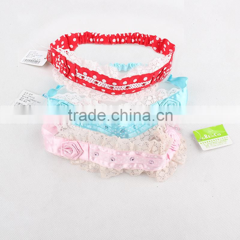 Discount Special Beautiful Design Lace Baby Hair Accessories Children Girl Headbands for Sale