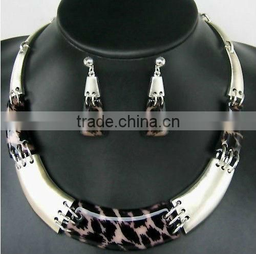 China Supplier Latest Leopard Print Costume Jewelry Set