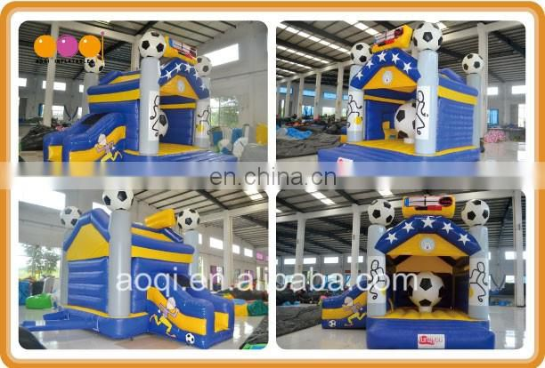 High quality cheapest price backyard small fun city inflatable playland football jumping bouncer combos