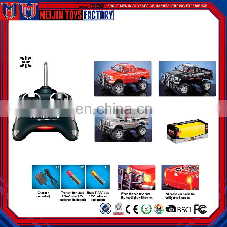 Factory customized 1:20 big wheel radio control rc cars with lamp