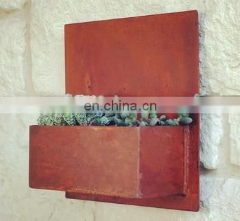 Vertical Galvanized Steel Wall Hanging Garden Planters