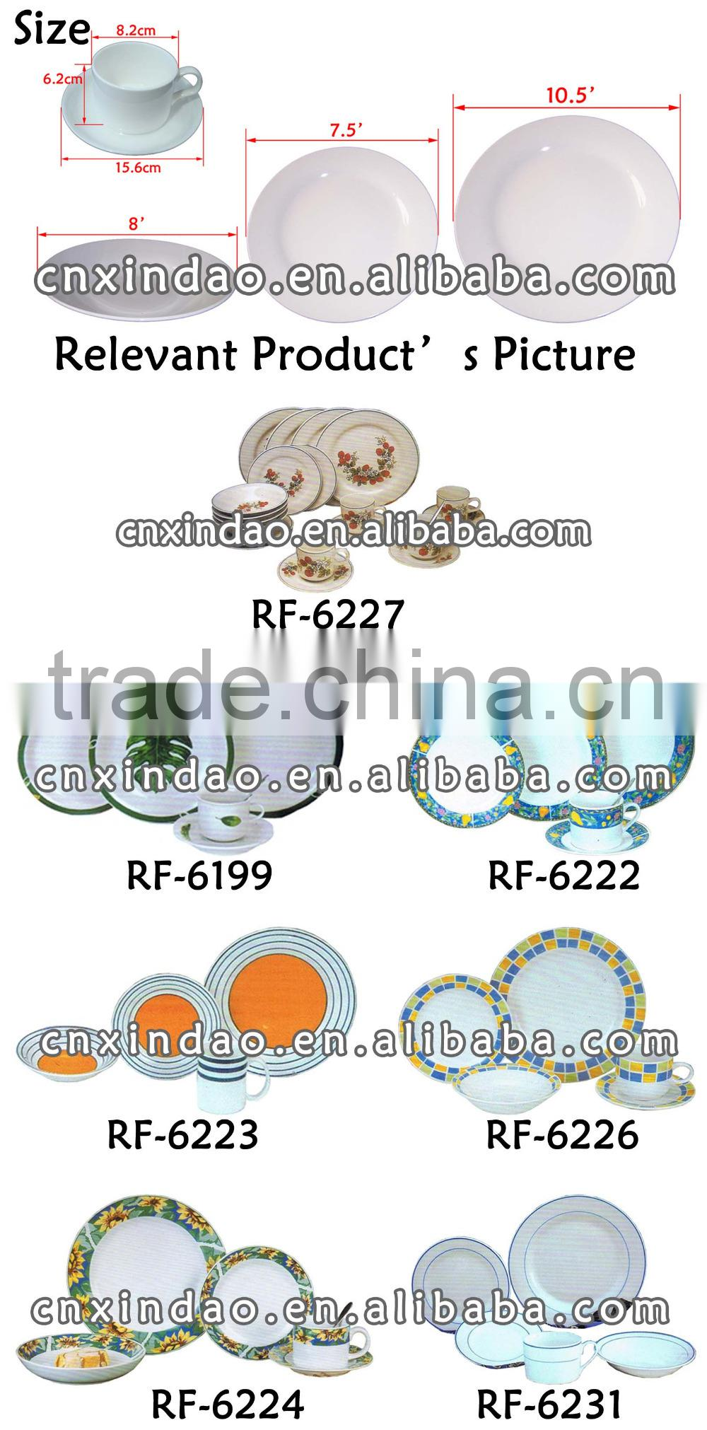 Professional Good Quality Cute Designed Oversized Ceramic Custom Sets Dinnerware