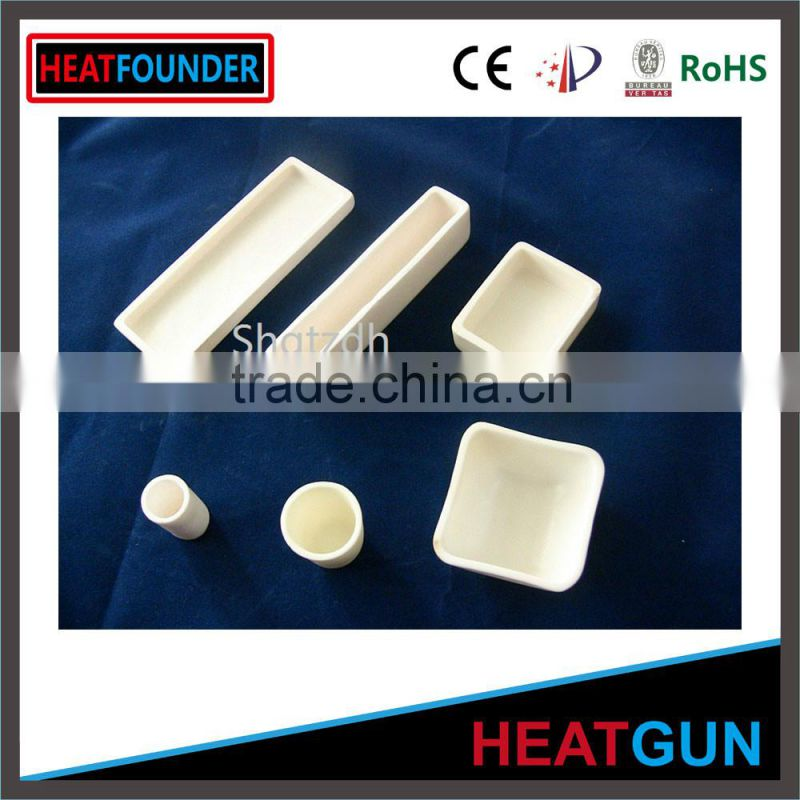High thermal shock resistance/all kinds shape/alumina ceramic crucible/for melting metal