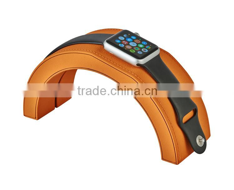 2015 Rainbow Bridge design plastic for apple watch charger stand
