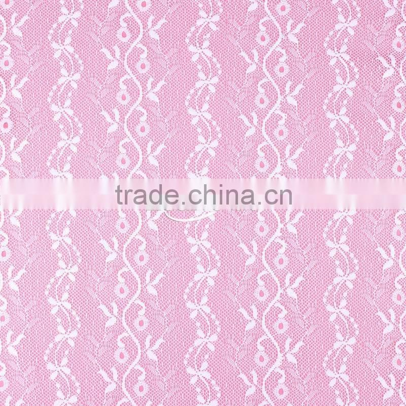 2014 High Quality Spandex Tint Pattern Italian Lace Fabric Wholesale for Lace Bra Tee Image